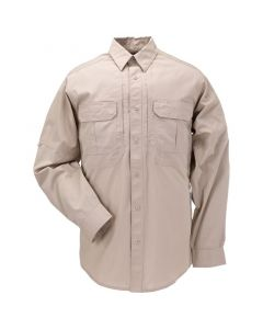 5.11 Tactical Men's Taclite Pro Long Sleeve Shirt, Front, TDU Khaki