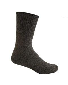 Bamboo Textiles Charcoal Hiker Bamboo Sock - Black Grey Merle