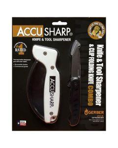 Accusharp Knife & Tool Sharpener & Gerber EVO JR Knife