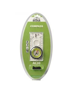 Atka AC30 Orienteering Baseplate Compass With Lanyard