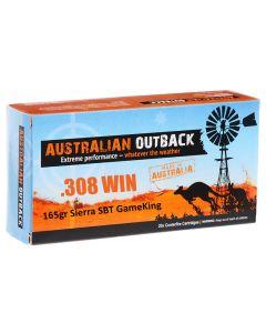Australian Outback 308 WIN 165GR Sierra SBT Gameking - 20 Pack
