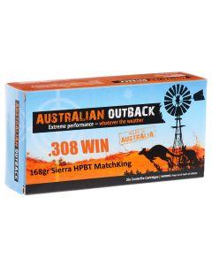 Australian Outback 308 WIN 168GR Sierra HPBT Matchking - 20 Pack