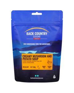 Back Country Cuisine Freeze Dried Creamy Mushroom & Potato Soup Single Serve