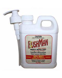 Bushman Heavy Duty Dry Gel Water Resistant Insect Repellent 1kg