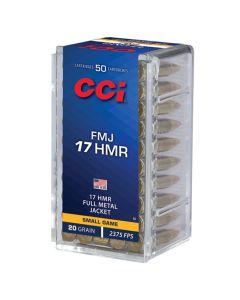 CCI 17HMR 20GR High Velocity Full Metal Jacket 2375FPS - 50 Pack