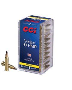 CCI 17HMR 17GR High Velocity V-Max Poly-Tip 2550FPS - 50 Pack