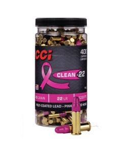 CCI 22LR 40GR Clean-22 High Velocity Poly-Coated Lead RN 1235FPS - 400 Pack