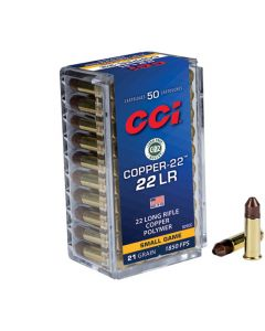 CCI 22LR 21GR Copper-22 High Velocity Hollow Point 1850FPS - 50 Pack