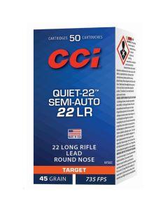 CCI 22LR 45GR Quiet Semi-Auto Low Velocity LRN Solid 835FPS - 500 Pack