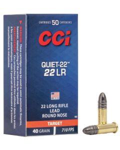 CCI 22LR 40GR Quiet Low Velocity LRN Solid 710 - 500 Pack