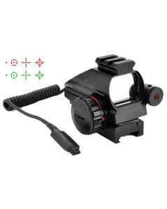 CCOP Reflex 1x33 Red/Green Dot illuminated Gun Sight With Laser