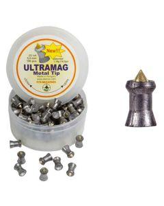 Coal Skenco UltraMag Metal Tip Air Rifle Pellets .22 cal 18.2 gr - 100 Pack