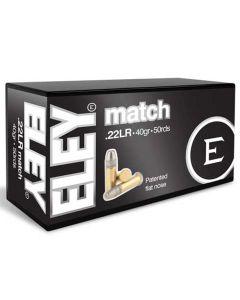 Eley 22LR 40GR Match Standard Velocity Flat Nose Solid 1085FPS - 500 Pack