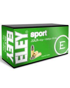 Eley 22LR 40GR Sport Standard Velocity Round Nose Solid 1090FPS - 500 Pack