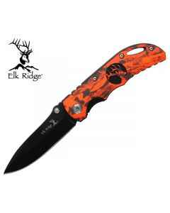 Elk Ridge Orange Camo Folding Knife