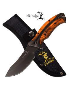 Elk Ridge Orange Camo Fixed Blade Knife