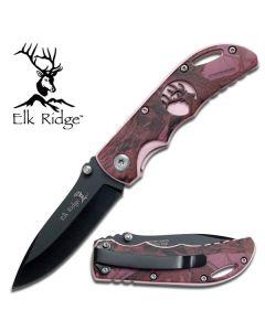 Elk Ridge Purple Camo Folding Knife