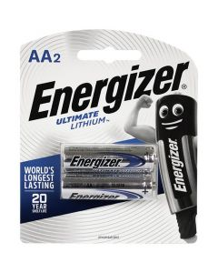 Energizer L91-BP2T AA-Cell Ultimate Lithium Battery - 2 Pack