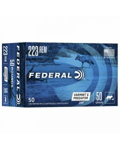 Federal 223 Rem 50GR Jacketed Hollow Point 3325FPS American Eagle - 50 Pack