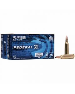 Federal 22-250 Rem 50GR Jacketed Hollow Point 3850FPS American Eagle - 50 Pack