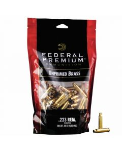 Federal Premium 223 REM Unprimed Brass Cases - 100 Pack