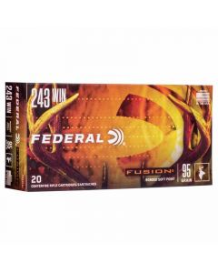 Federal 243 Win 95GR Fusion Bonded Bullet 2980FPS - 20 Pack