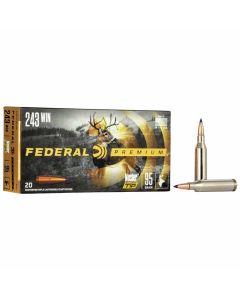 Federal 243 Win 95GR Nosler Ballistic Tip Hunting 3025FPS - 20 Pack