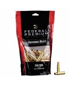 Federal Premium 308 WIN Unprimed Brass Cases - 50 Pack
