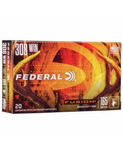Federal 308 Win 165GR Fusion Bonded Bullet 2700FPS - 20 Pack