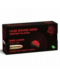 Geco 9mm Luger 124GR Copper Plated Lead Round Nose - 50 Pack