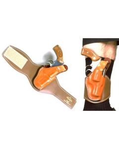 Hellweg LVL 1 Plain Leather Ankle Holster | S&W, Ruger, Rossi, Dan Wesson & Taurus Revolvers