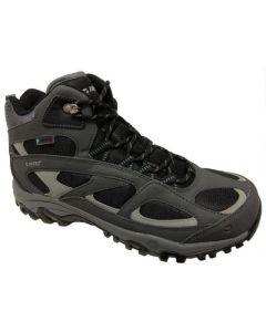 HI-TEC LIMA Sport II Mid WP Men's Hiking Boots - Charcoal/Black/Goblin BIue