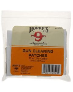 Hoppe's (1202S) Woven Gun Cleaning Patches 500 Pack - Suits .22 to .270 Cal