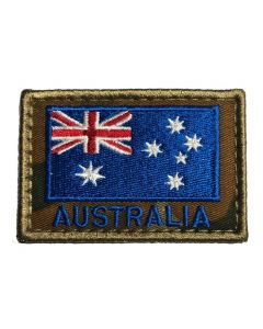 HUSS Auscam Flag Patch Velcro Backed - Blue Australia