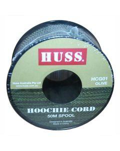 HUSS Hoochie Cord Spool 2mm x 50m - Olive