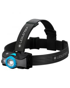 Led Lenser MH7 - 600 Lumen LED Rechargeable Outdoor Series Headlamp, Black/Blue