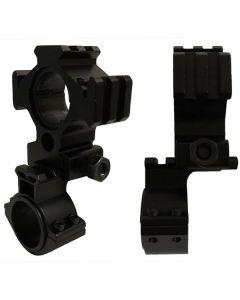 Led Lenser Anodized Alloy Universal Rifle Scope Torch Mounting Bracket