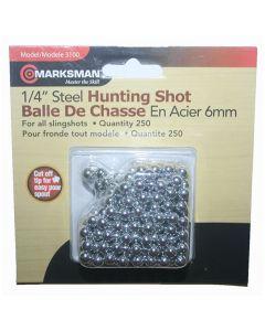 Marksman 6mm Steel Shot Slingshot Ammo