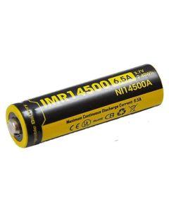 Nitecore IMR14500 3.7V 650mAh Rechargeable Battery