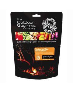 Outdoor Gourmet Venison & Rice Noodle Stirfry - Double Serve