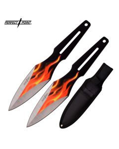 Perfect Point Flames Twin Knife Throwing Set