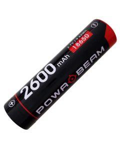Powa Beam 3.7V 2600mAh 18650 Rechargeable Battery