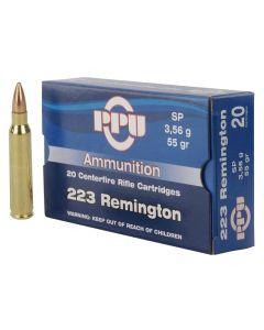 PPU 223 REM 55GR Soft Point - 20 Pack