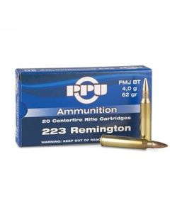 PPU 223 REM 62GR FMJ Ammunition - 20 Pack