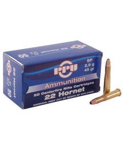 PPU 22 HORNET 45GR Soft Point - 50 Pack