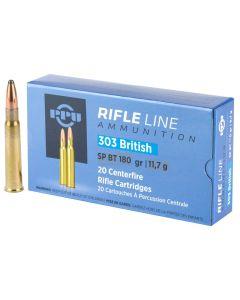 PPU 303 British 180GR Soft Point Ammunition - 20 Pack