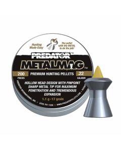 Predator Metalmag Premium Air Rifle Hunting Pellets .22 cal 17 gr - 200 Pack