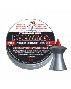 Predator Polymag Premium Air Rifle Hunting Pellets .177 cal 8 gr - 200 Pack