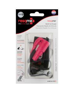 ResQMe Quick Car Escape Rescue Tool Combo Kit Fuchsia