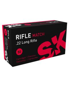 SK 22LR 40GR Rifle Match Standard Velocity Solid 1050FPS - 500 Pack